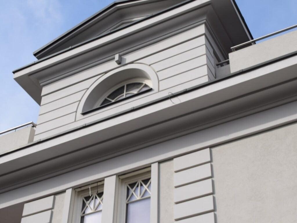 sztukateria zewnętrzna domu